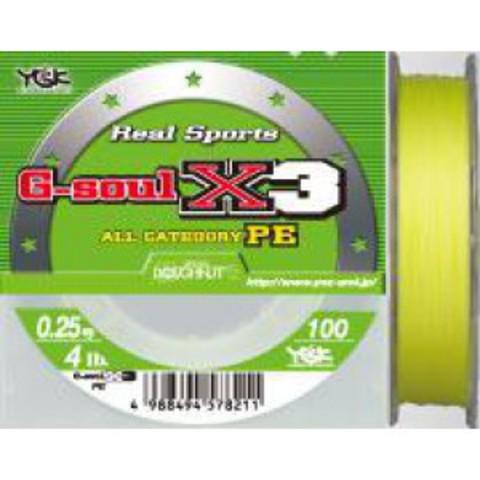 YGK G-Soul Real Sports X-3 PE 150m #0,8/5,9kg