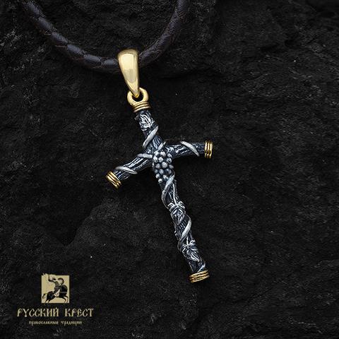 Крест грузинский. Святой Нины. Позолоченный