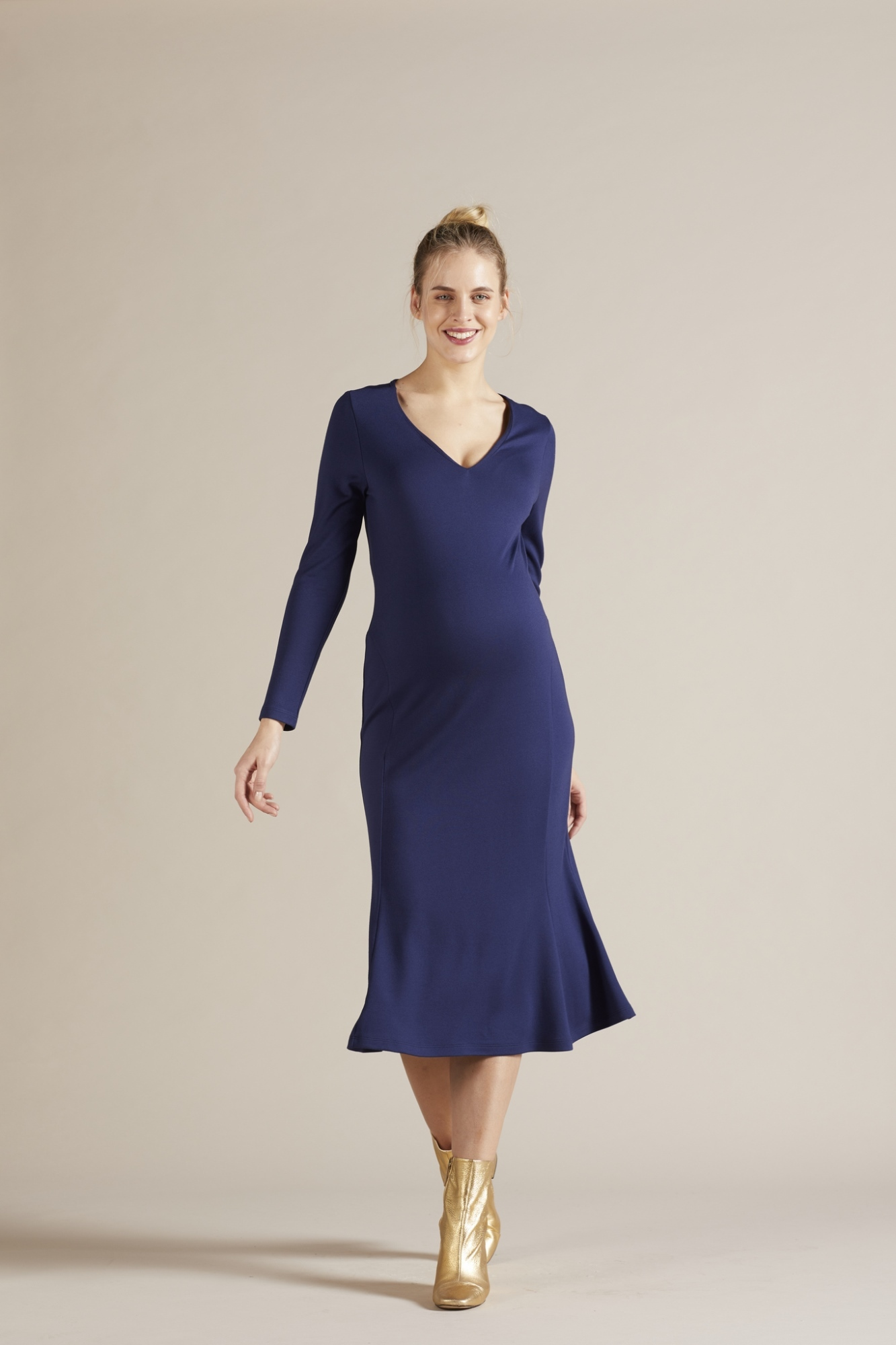 Платье 09802 синий