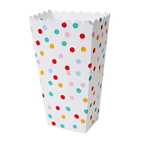 Коробочки для попкорна в горошек