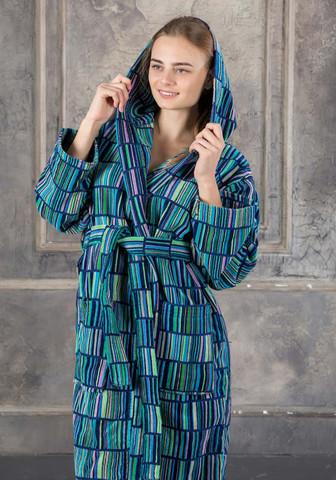 Женский халат из велюровой махры