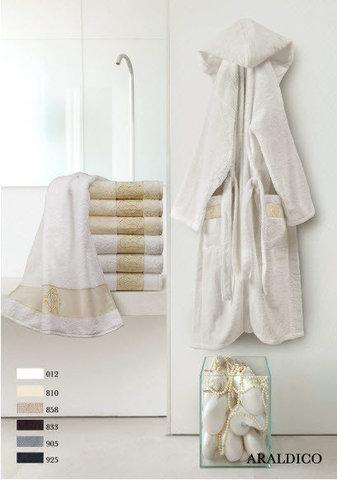 Элитный халат махровый Araldico тёмно-серый от Roberto Cavalli