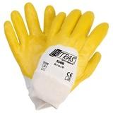 Перчатки трикотажные с облегченным нитриловым покрытием, манжета, полуобливные (Nitras)