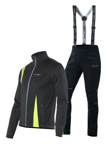 Nordski Active Premium детский лыжный костюм black-lime