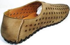 Модные мокасины мужские Luciano Bellini 107703 Beige.