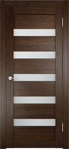 Дверь Eldorf Мюнхен 03, стекло Сатинато, цвет дуб табак, остекленная
