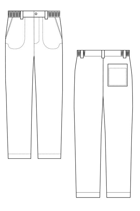 Выкройка рабочего костюма на молнии тех рисунок брюки