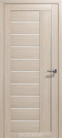 Дверь Восход Бета, стекло сатин, цвет лиственница амурская, остекленная