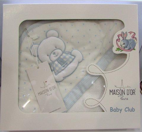 Полотенце-Конверт   BABY CLUB  голубой / Maison Dor (Турция)