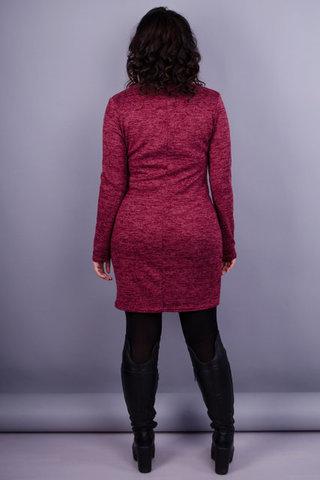 Маріелла. Жіноча стильна сукня. Бордо.