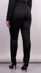 Светлана. Женские повседневные брюки больших размеров. Черный.