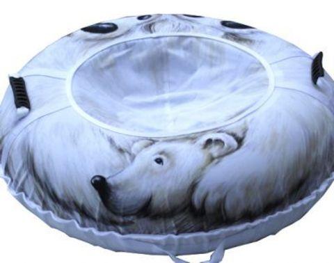 Тюбинг «Белый медведь» 110 см. (МИТЕК)