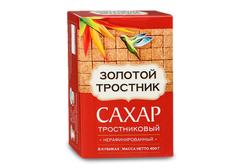 Сахар Золотой Тростник нерафинированный в кубиках, 400г