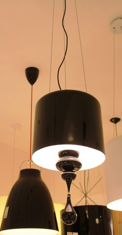 replica  Eva S3+1 pendant lamp (black)