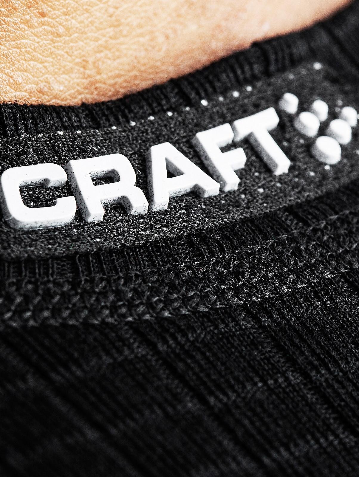 Мужская терморубашка с шерстью мериноса Craft Warm Wool Black (1903726-9999)