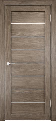 Дверь Eldorf Мюнхен 04, стекло Сатинато, цвет дымчатый дуб, остекленная