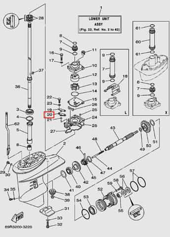 Уплотнитель для лодочного мотора Т30 Sea-PRO (17-20)
