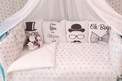 Постельный комплект в кроватку для новорожденного Джентельмен