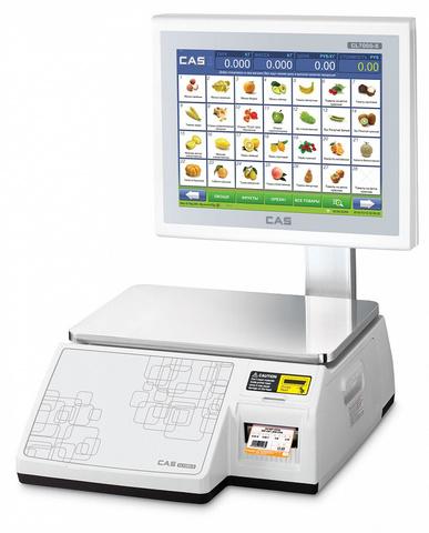 фото 1 Торговые весы с печатью этикеток Cas CL7000-15S на profcook.ru