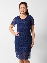 1272 платье женское, синее