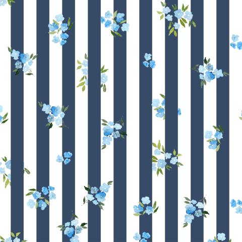 Незабудки на синих полосках