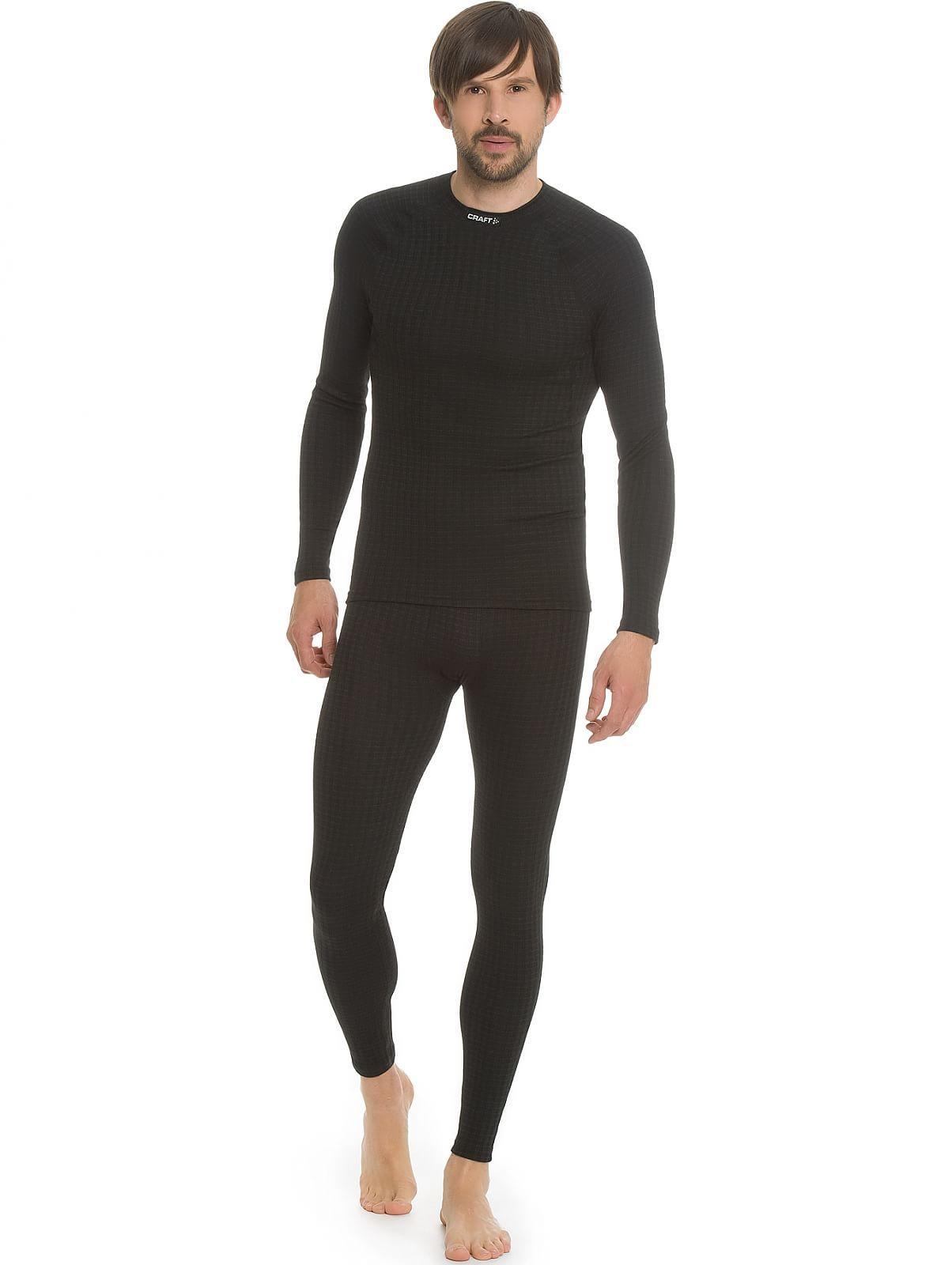 Мужское термобелье рубашка с шерстью мериноса крафт Warm Wool Black (1903726-9999)