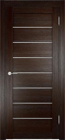 Дверь Eldorf Мюнхен 04, стекло Сатинато, цвет тёмный дуб, остекленная