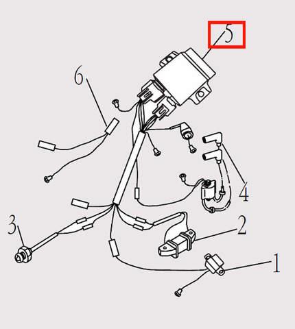 Коммутатор для лодочного мотора F9.8 Sea-PRO (14-5)