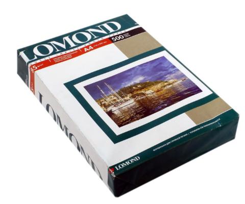 Односторонняя глянцевая фотобумага Lomond для струйной печати, 85 г/м2, А4, 500 листов (0102146)