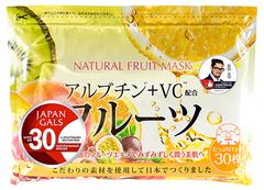 Курс натуральных масок для лица с фруктовыми экстрактами, Japan Gals