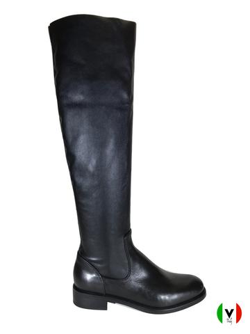 Сапоги Fru.it, артикул 4105, сезон осень, цвет чёрный, материал кожа, цена 17 500 руб., veroitaly.ru