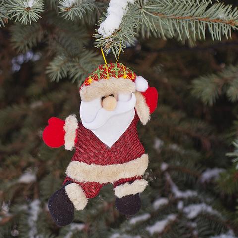 Игрушка елочная Santa текстил.