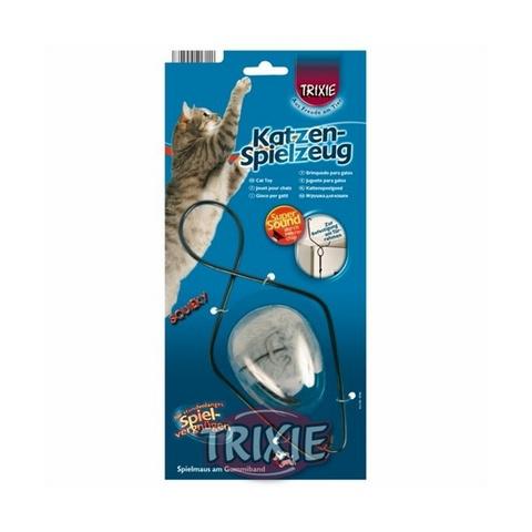 Trixiе 4546 Игрушка с микрочипом с креплением на дверной проем, мех 7см