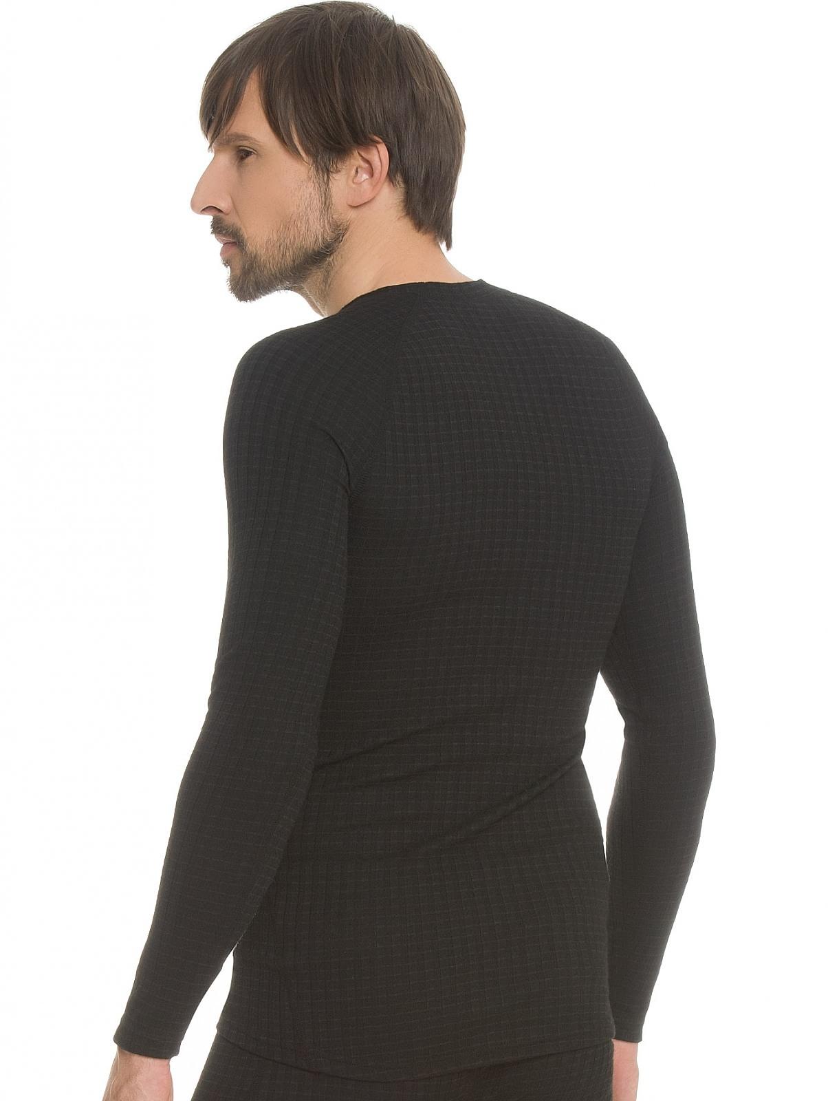 Мужское термобелье рубашка с шерстью мериноса Craft Warm Wool (1903726-9999) черный