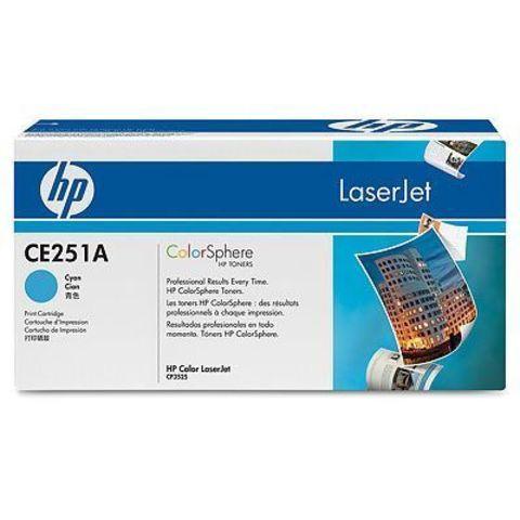 Картридж HP CE251A для HP Color LaserJet CM3530, CM3530fs, CP3525dn, CP3525n, CP3525x (голубой, 7000 стр.)