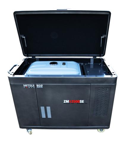 Готовый комплект аварийного питания на 10 кВт бензиновый генератор ZM 12500 SE в кожухе с АВР (блоком автоматического ввода резерва)