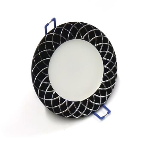 Светодиодный Led светильник встраиваемый Feron AL 780 Черный (круглый) 7W 4000K