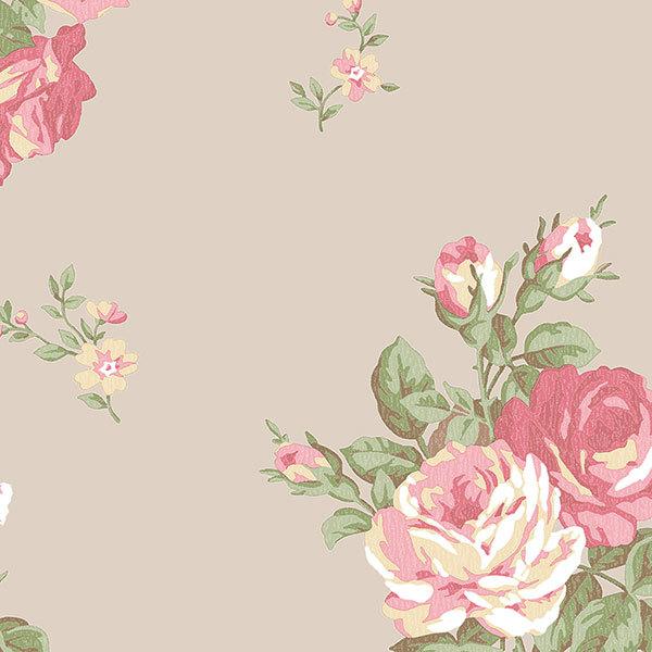 Обои Aura English Florals G34317, интернет магазин Волео