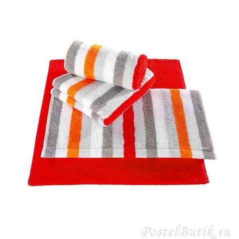 Полотенце 70х140 Cawo Life Style 7052 Sport Streifen оранжевое