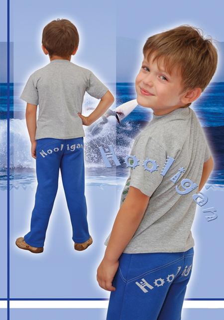 Выкройка трикотажных брюк для мальчика
