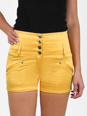 2162-1 шорты женские, желтые