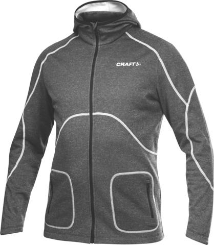 Элитная толстовка Craft Active Hood Zip мужская черная
