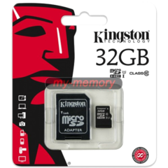 Карта памяти Kingston MicroSD (Class 10) 32gb + адаптер