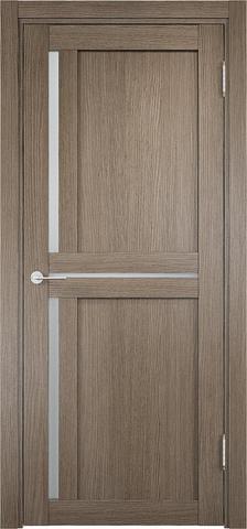 Дверь Eldorf Берлин 01, стекло Сатинато, цвет дымчатый дуб, остекленная