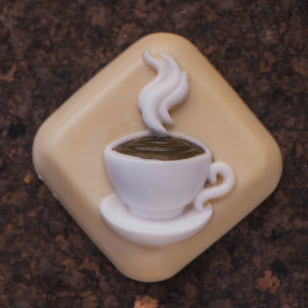 Мыло квадратное Горячая чашка. Пластиковая форма