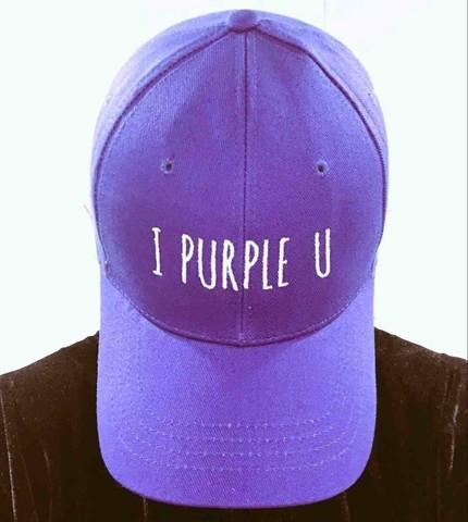 Кепка I PURPLE U (BTS) Бейсболка фиолетовая