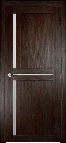 Дверь Eldorf Берлин 01, стекло Сатинато, цвет тёмный дуб, остекленная