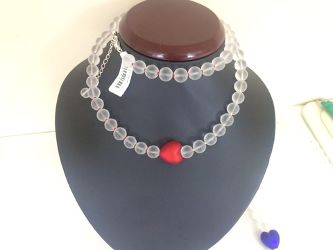 Ожерелье Cuori красное