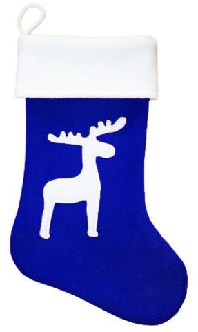 Рождественский сапожок Олень синий