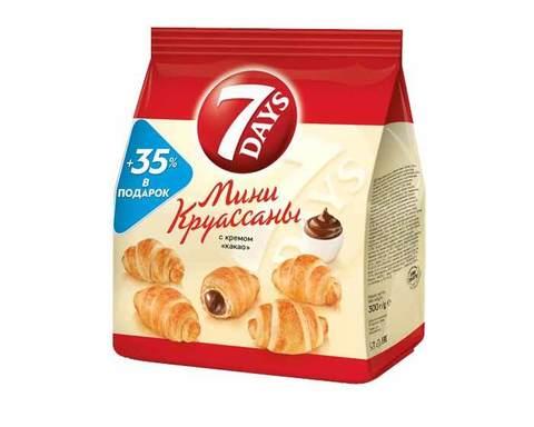 Мини круассаны «7DAYS» с кремом какао, 300 г